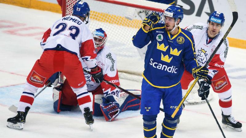 Češi ztratili dvougólový náskok a podlehli Švédům. V Rusku končí poslední