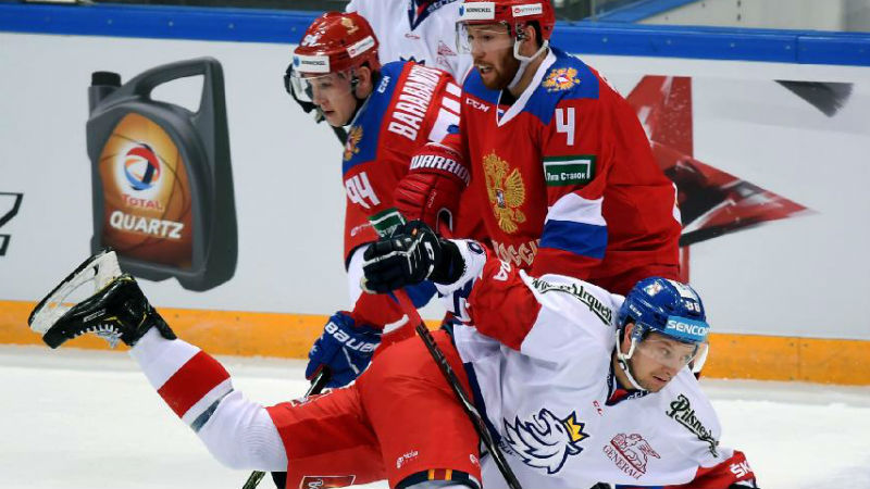 Češi stíhali sbornou marně, ruští dravci smetli národní tým sedmi góly